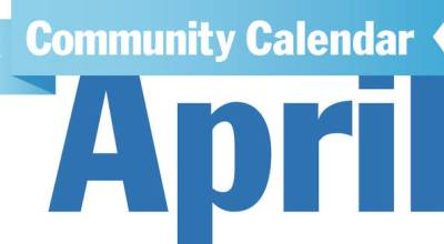 April Community Calendar banner