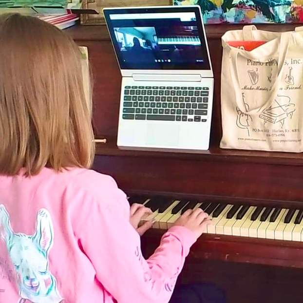 Local music studio student